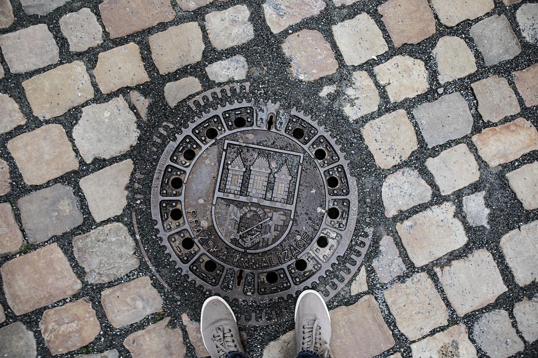I can't understand why the US doesn't implement better looking sewer covers, Europe knows how to cover a manhole!
