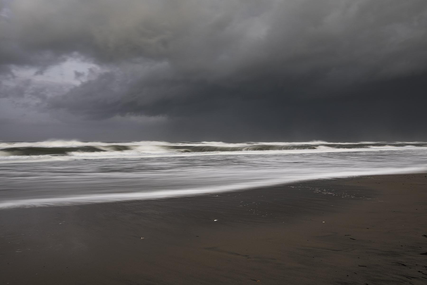 An angry ocean.