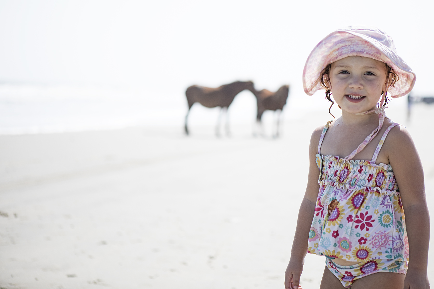 Brenna and the ponies.