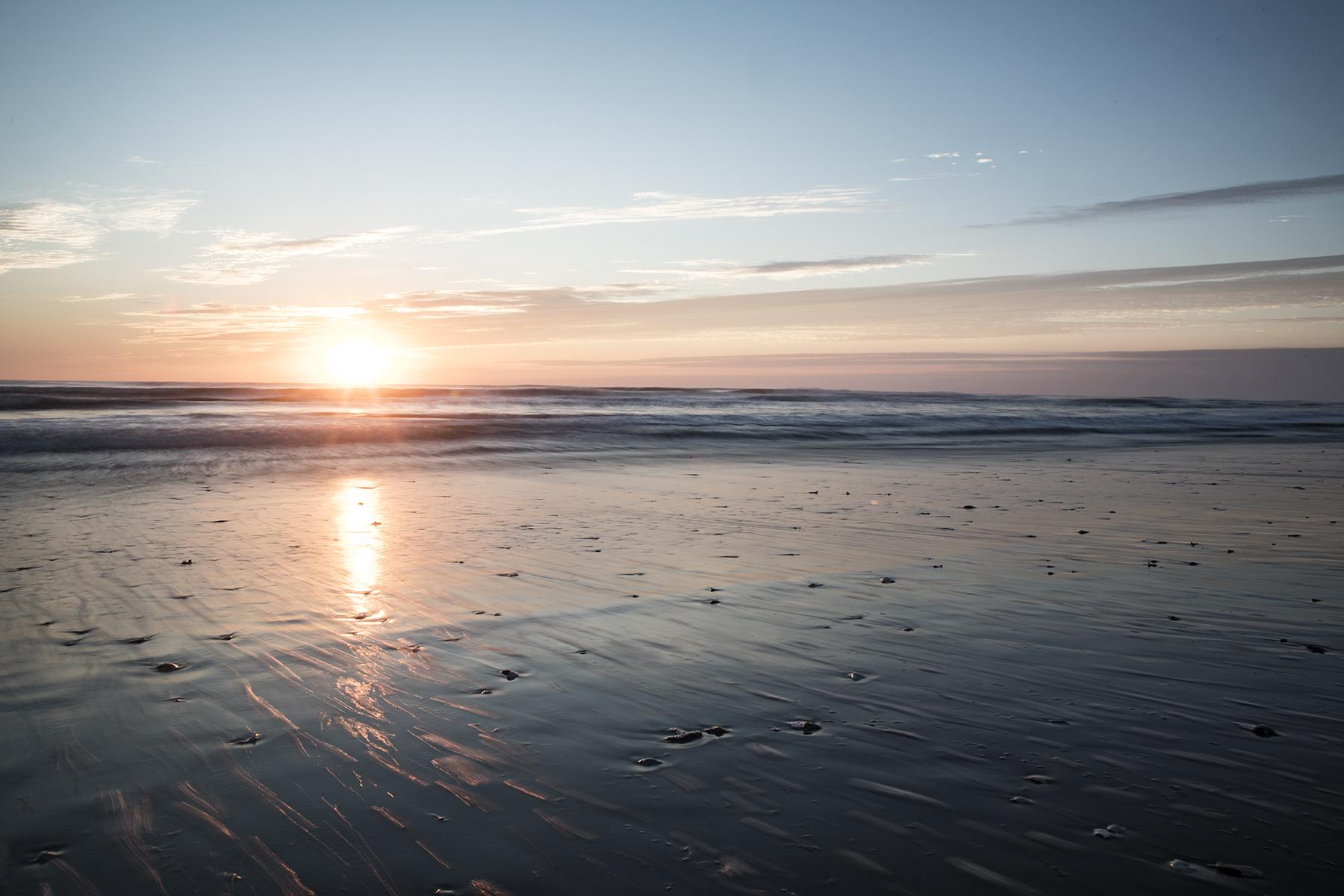 Sunrise over the Atlantic, Maria had finally left the area.