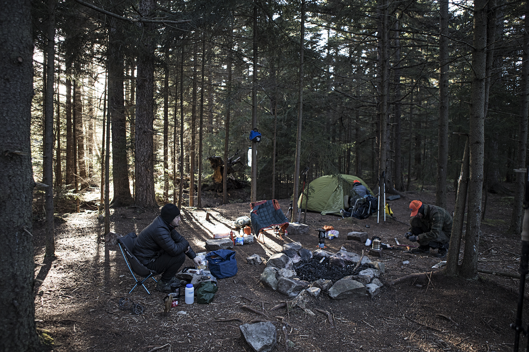 the beginnings of a camp