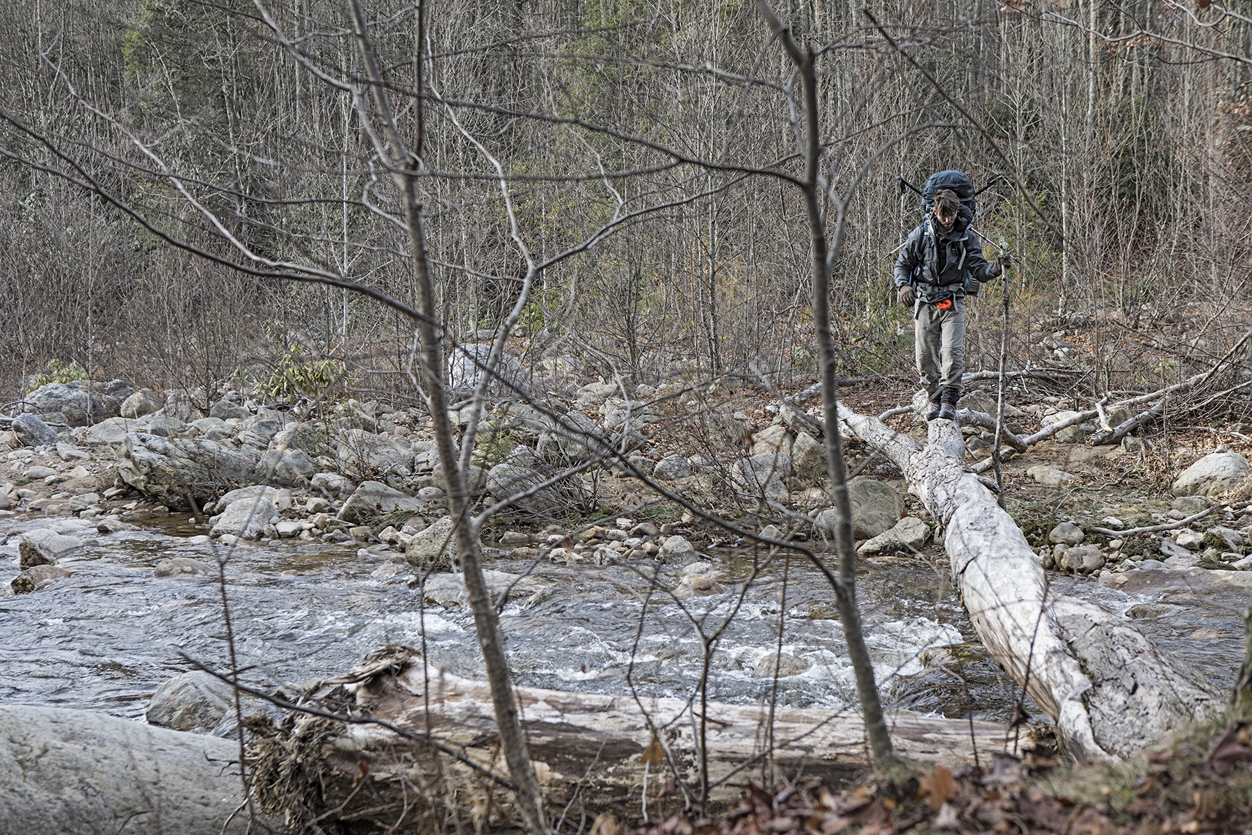 Nate on our first crossing of Red Creek.