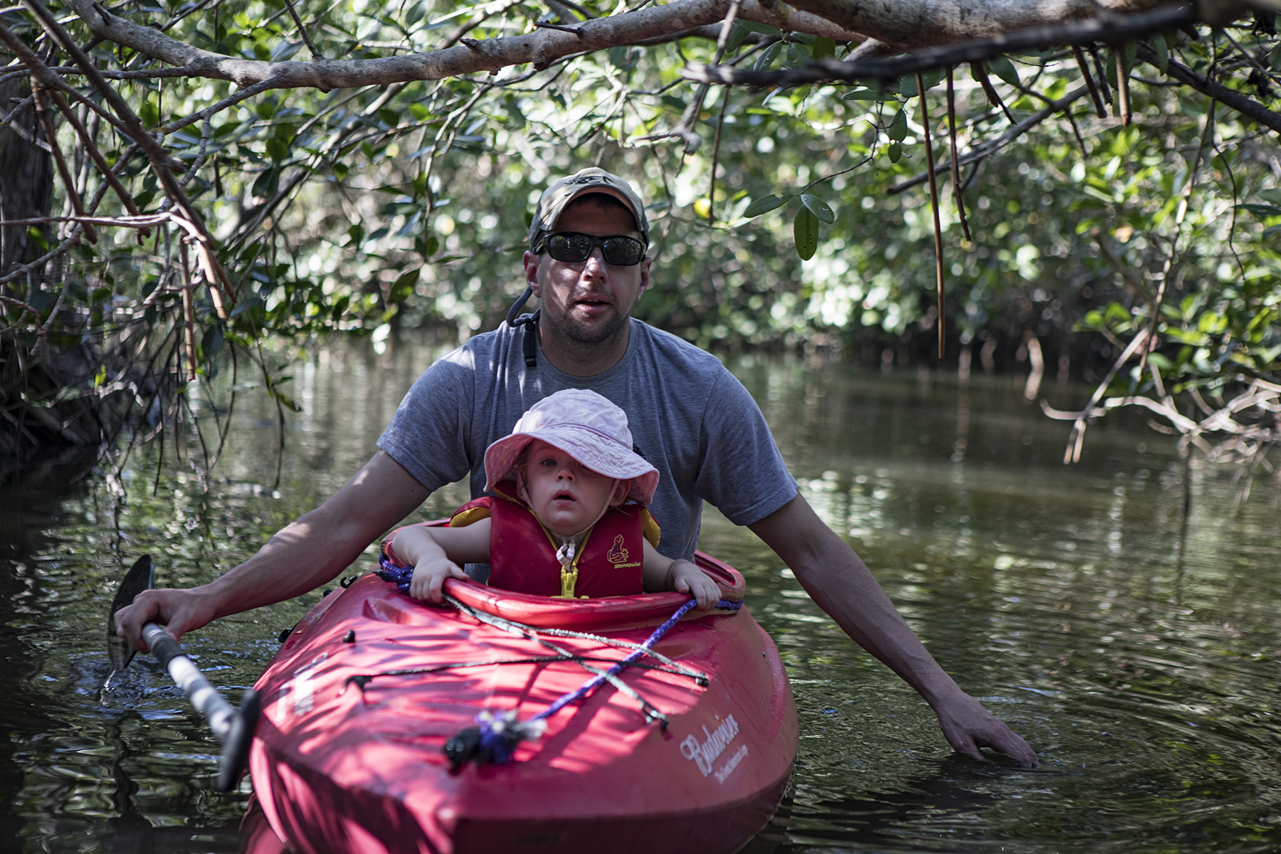 Jim and Amelia in the mangroves.