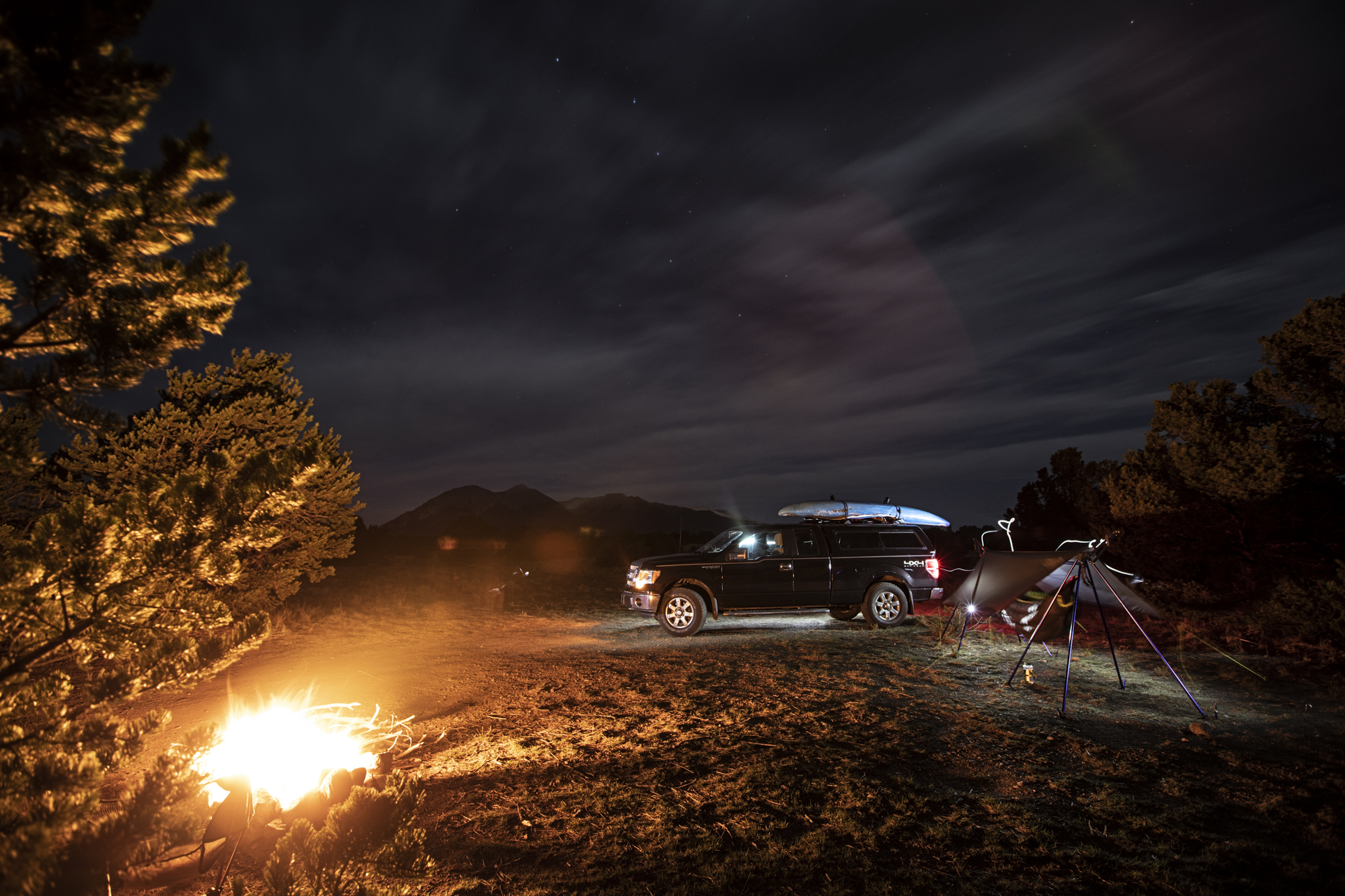 Nate and I did some light painting of the campsite.