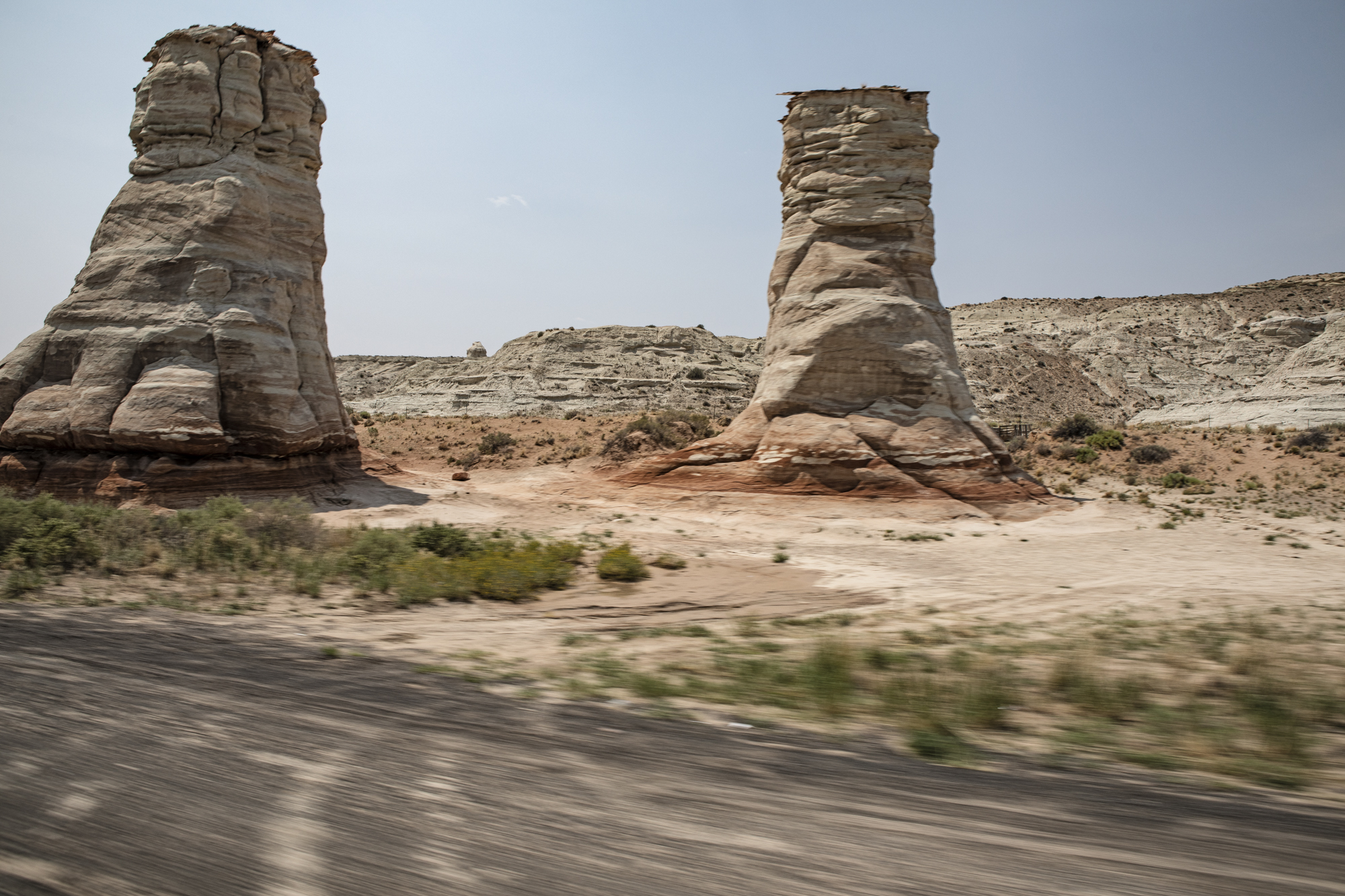 "Roadside stone formations known as the ""elephants feet""."
