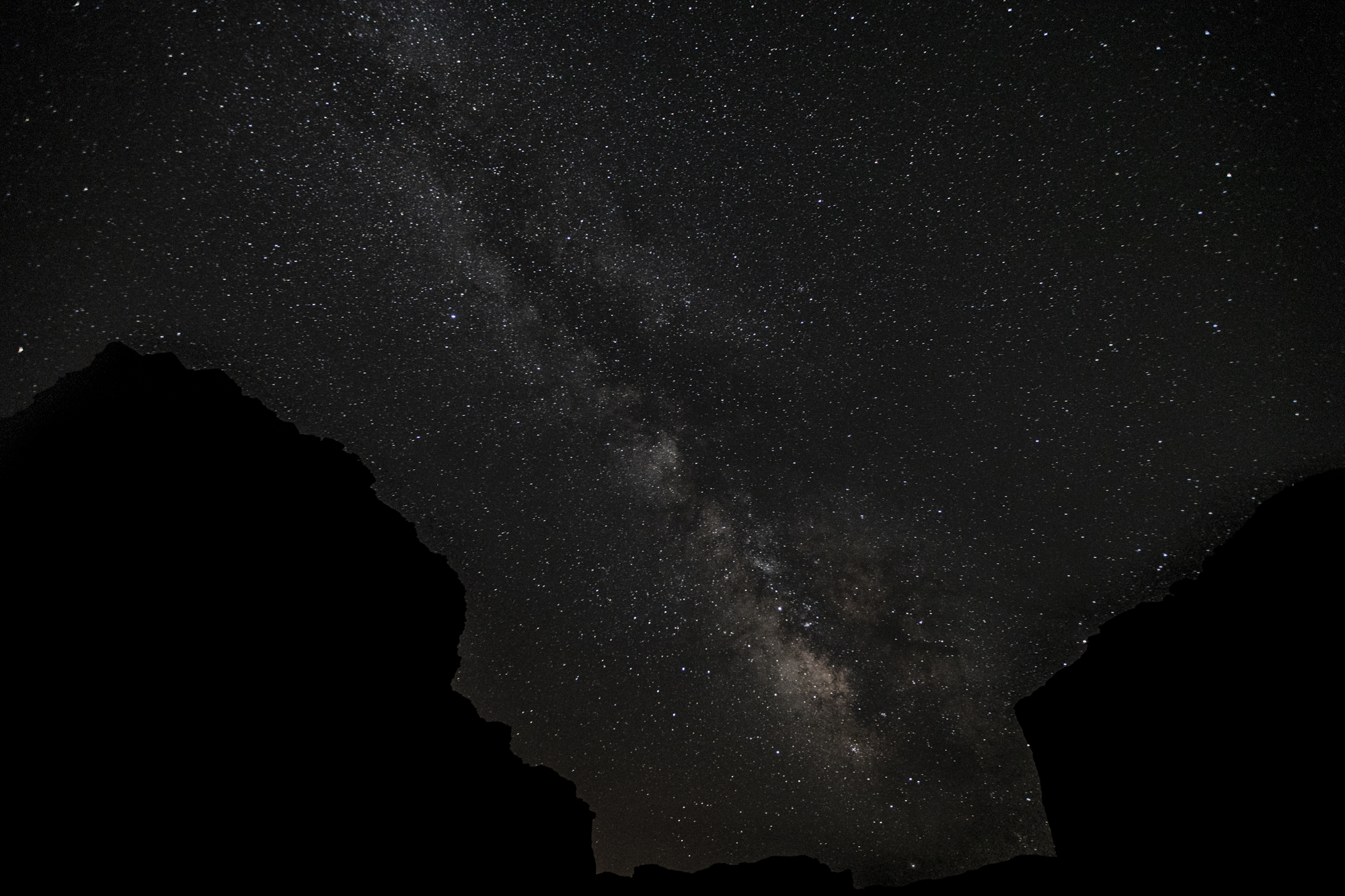 First time seeing the milky way within the canyon walls.
