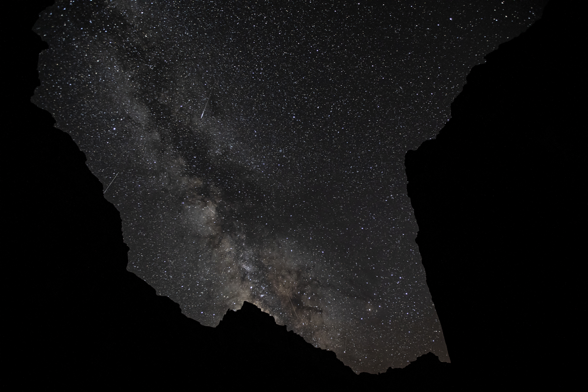 The milky way and some meteors from Pres Harding camp.