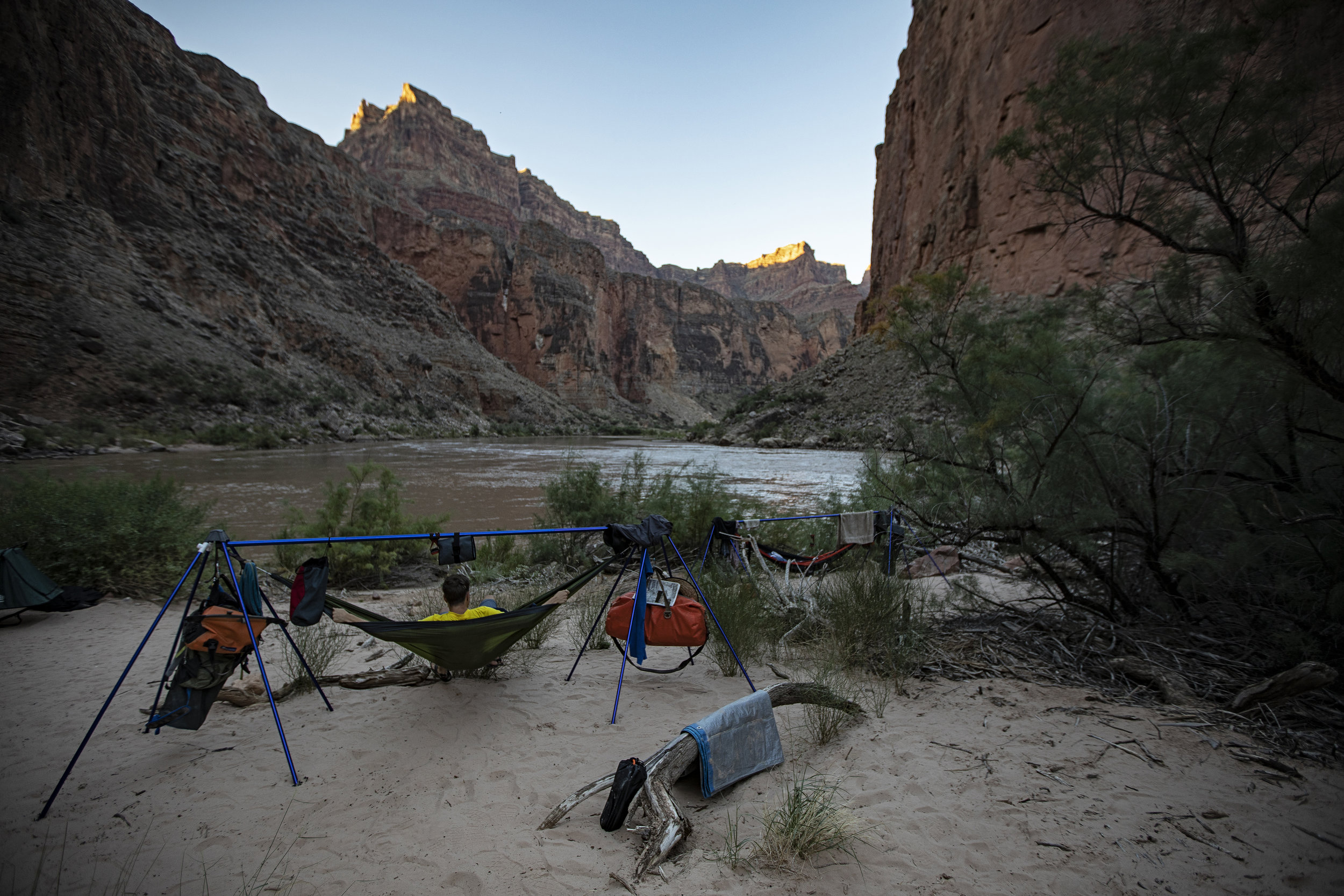 Our hammock set ups for night 3.