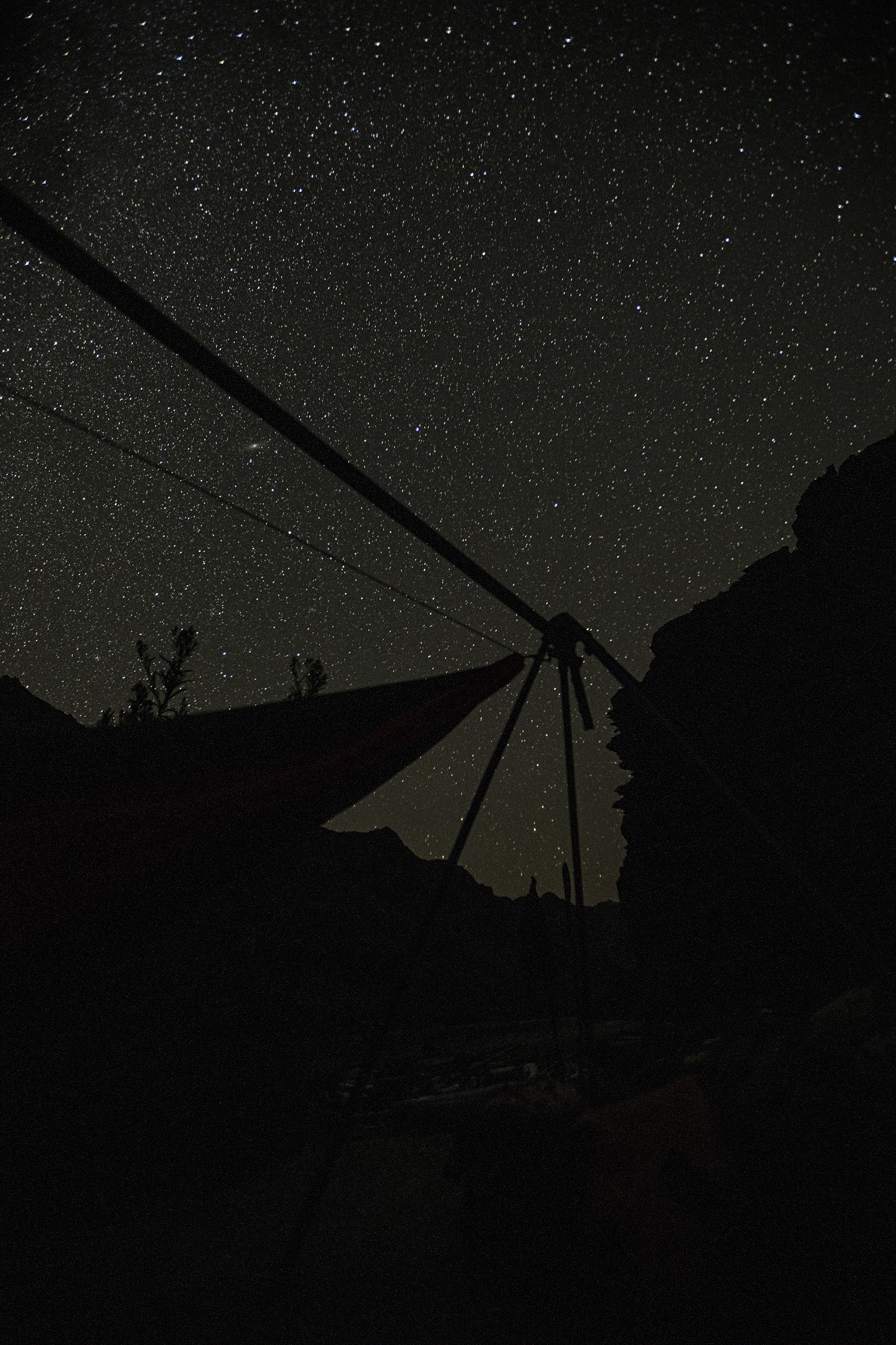 Star gazing at night. Watching meteors from a hammock is incredible.