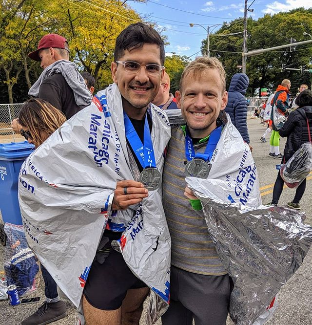 I finished the Chicago Marathon in just under 5 hours, which was my goal. Many thanks to you @life_with_vitality for challenging me to sign up and make this journey a reality!! #chicagomarathon #marathoner #hardwork #smallgoals