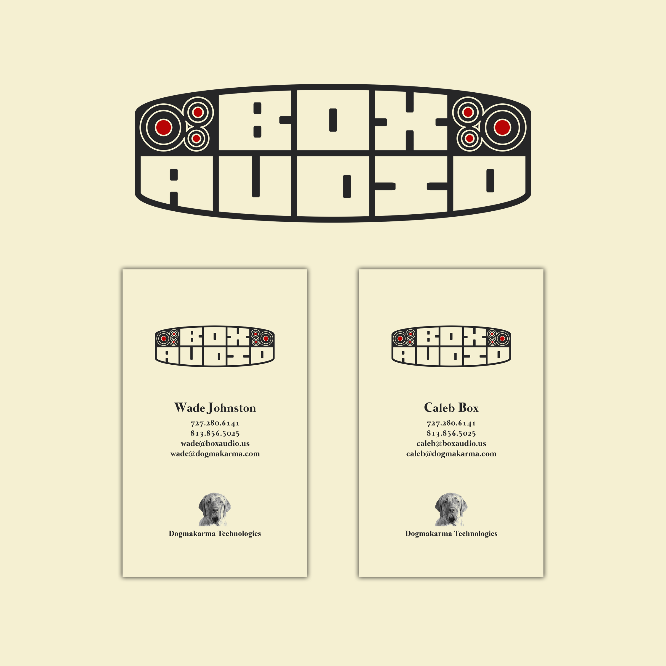 Box Audio Logo & Business Cards