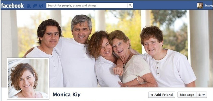 Real estate agent who showcases her family in her cover photo