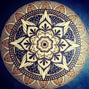 Wood Burned Mandalas