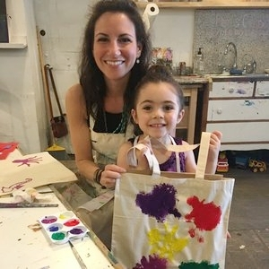 Mom & Me Painted Totes