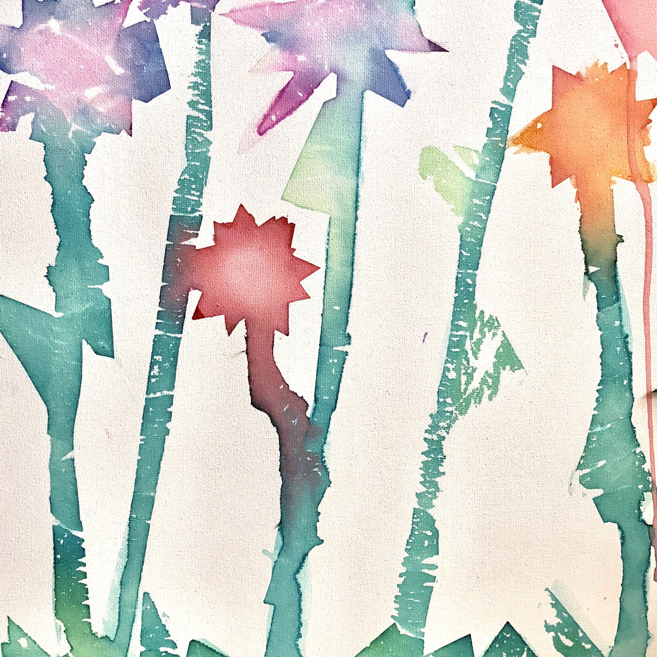 Mixed Media Tissue Paper Painting