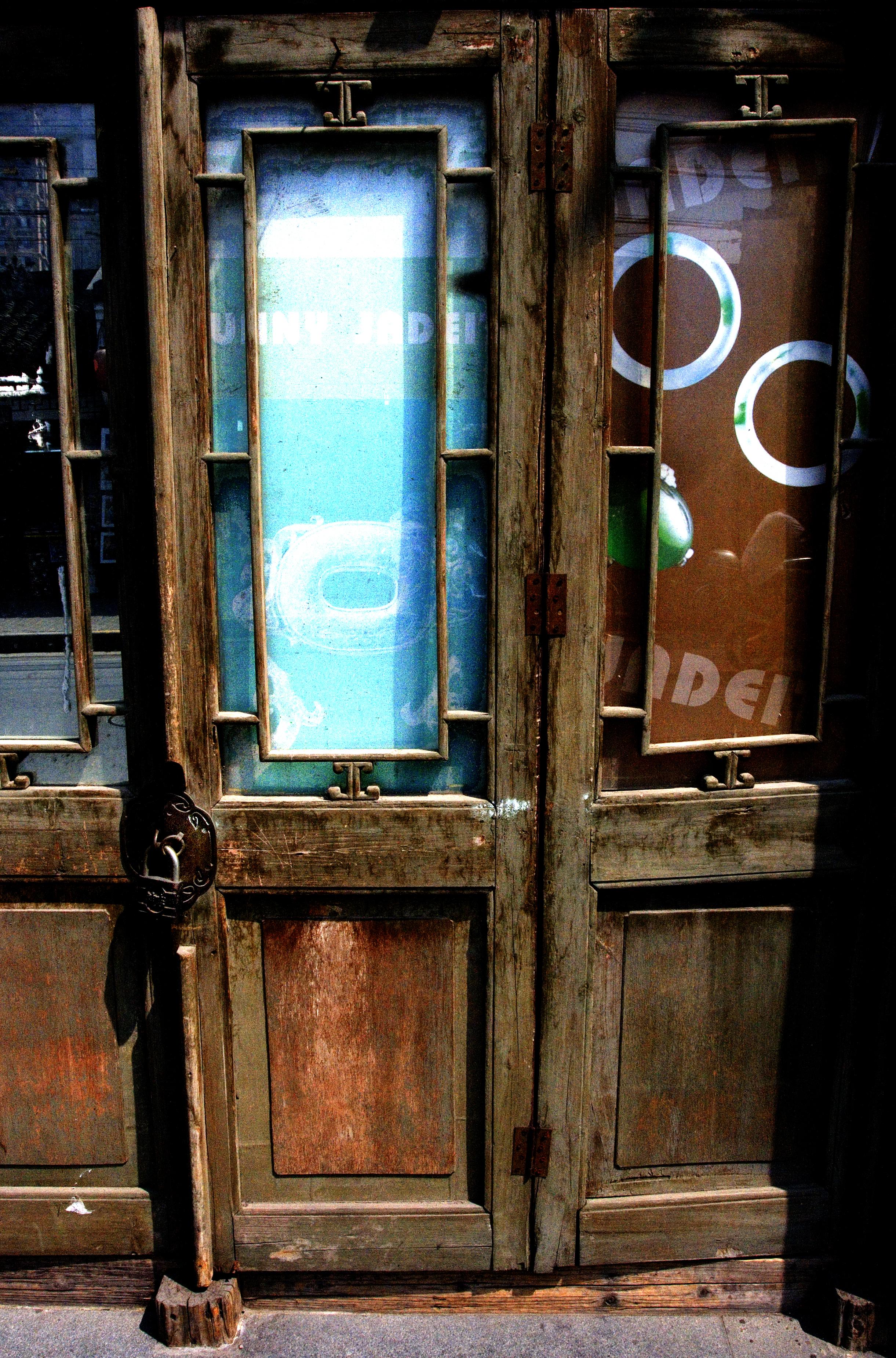 The Blue Glass Door