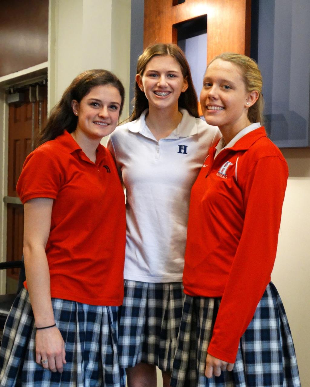 Congratulations to (L–R) Ellie Arnett, Lauren Deaton, and Katie Grace Short.