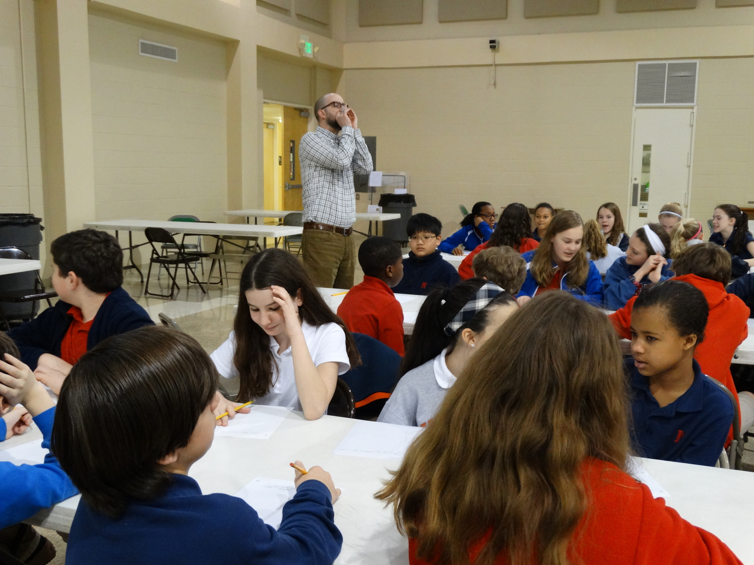 Creative writing workshop with White Station and Cordova sixth graders.