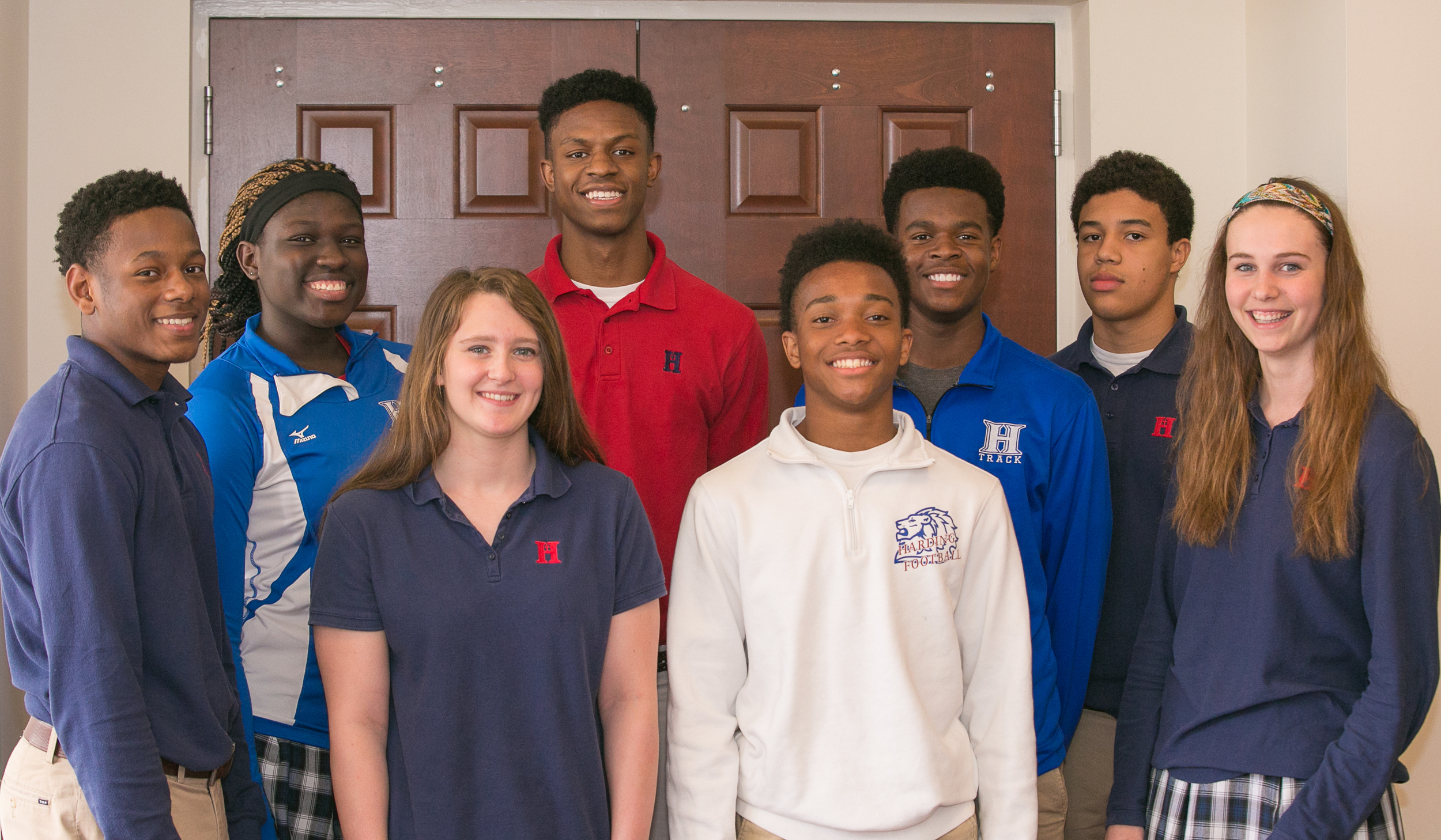 Front row: Chris Smith, Alyssa Hale, Calvin Austin, Anna Horner Back row: Antoinette Lewis, Anthony Yarbrough, Troy West, James Townsdin