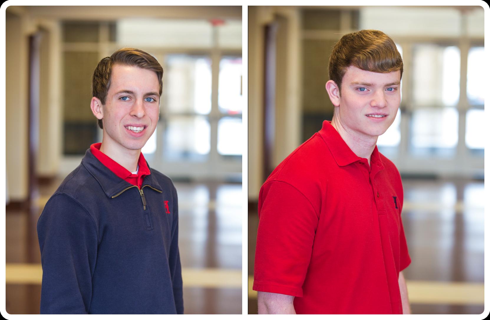 (LEFT) Valedictorian, Zach Riedel (RIGHT) Salutatorian, Robert Mihalko