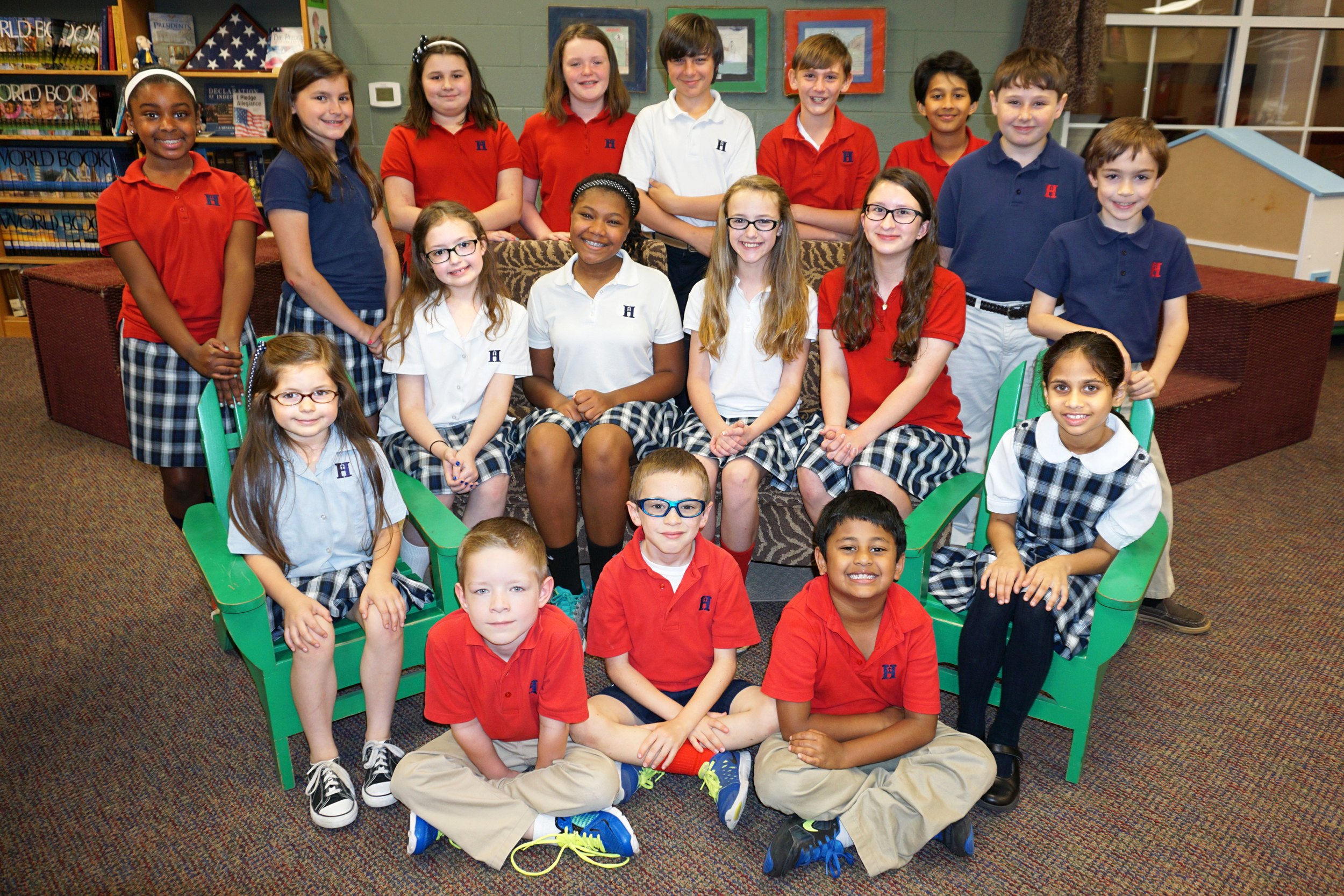 Back row (l to r): Chelsea Bass (3), Erin Sharp (4), Zoe Vales (4), Karigan Bartlett (4), Tanner Howell (6), Caleb Adams (5), Ronak Karuhatty (5), Austin Opler (5), Jonathan Mohler (2) Middle row (l to r): Isabelle Terry (SK), Willow Blythe (5), Camille Carter (6), Katie Cooper (5), Betsy Kohn (6), Naatya Kudumula (1) Front row ( to r): Ian Adams (SK), Logan Carr (2), Ivan Dam (1) Not pictured: Katie Savage (4)