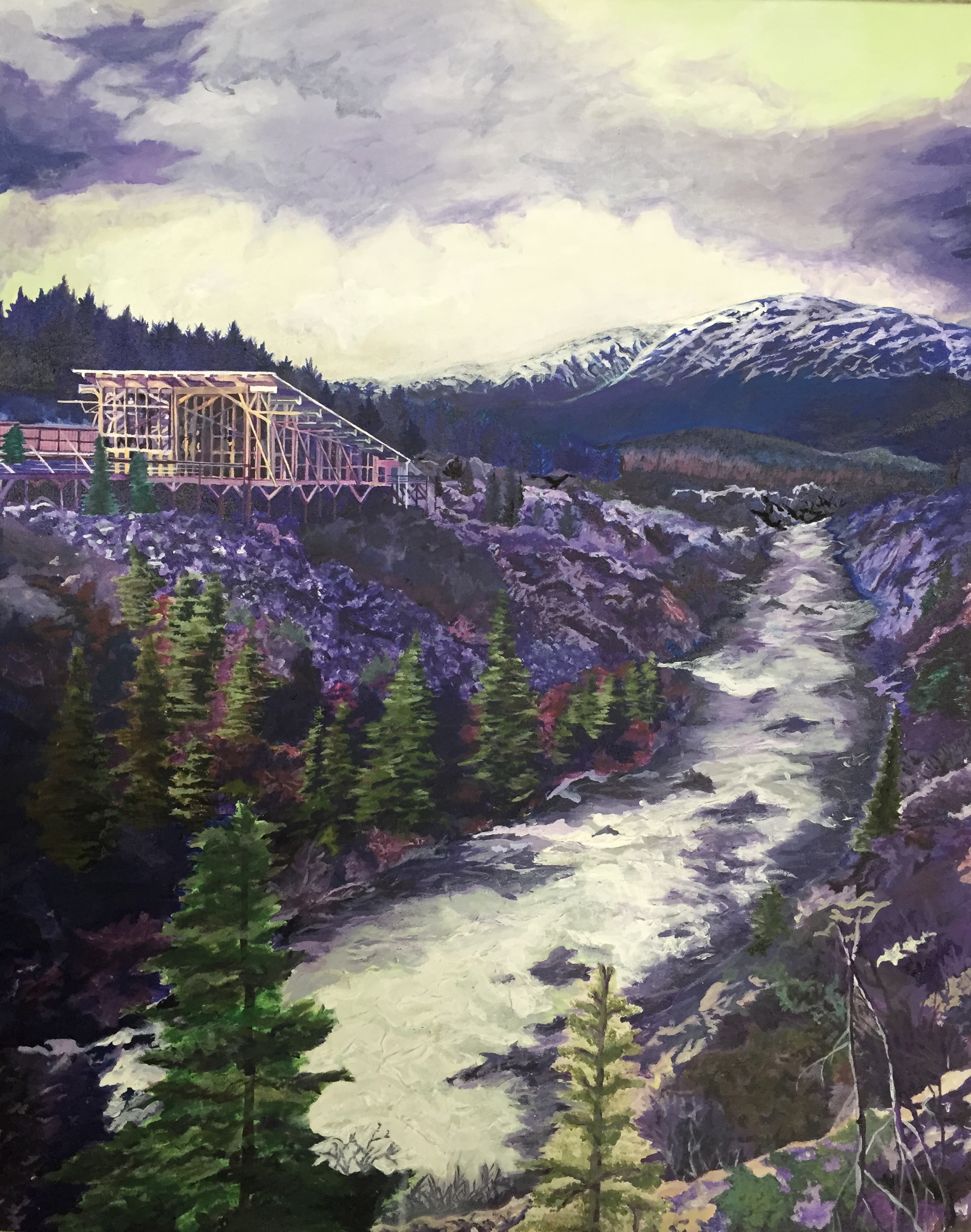 Acrylic landscape by Sarah Chow