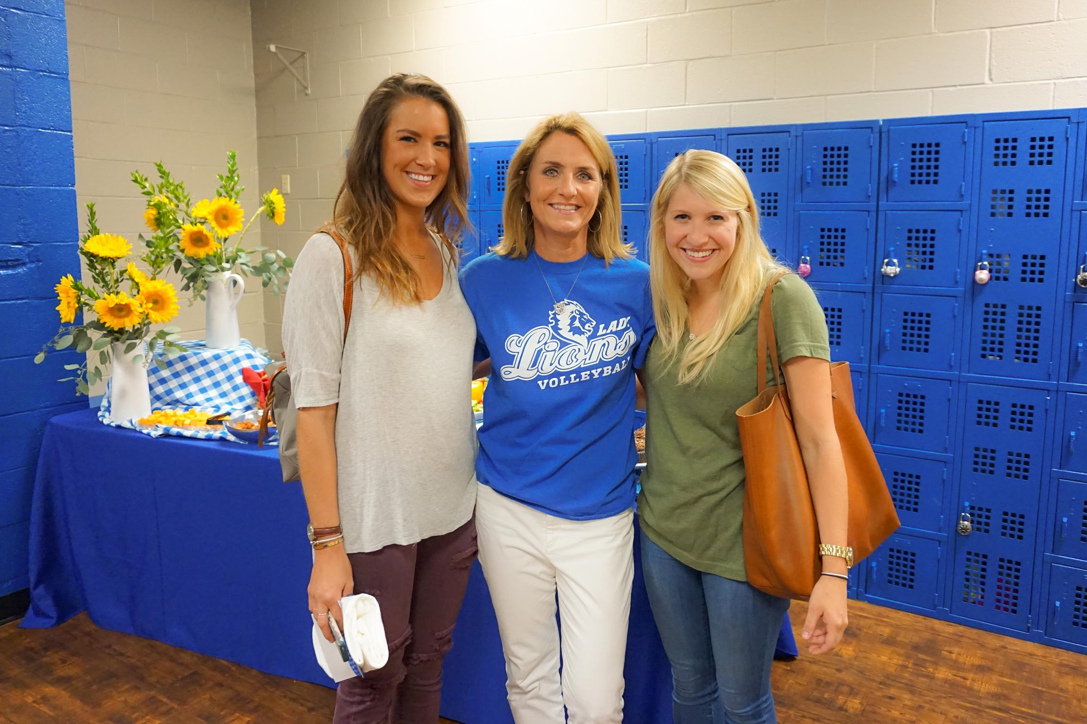 Lindsey Allison ('09); Lisa Greer, Director of Alumni Relations; and Stephanie Wadlington ('09)