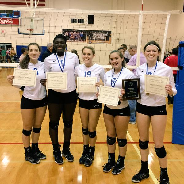 All tournament honors went to Taylor Ferrante, Antoinette Lewis, and Lauren Deaton (MVP); and all-region team honors went to Taylor Ferrante, Antoinette Lewis, Lauren Deaton, with Katie Grace Short and Rachel Hickman as honorable mentions.