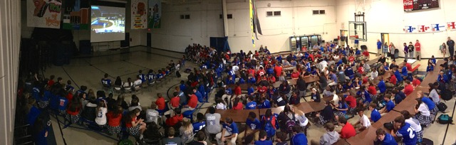 The Cherry Road campus filled the cafeteria with cheers and energy as they followed the Lady Lions - play by play!