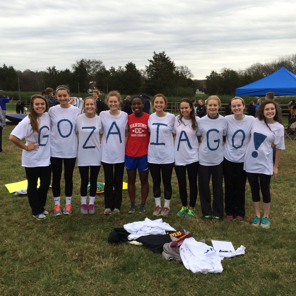 The girls team cheers on Zara! Go! Go! Go! Zaria finished 26th in the State with a time of 23:26.