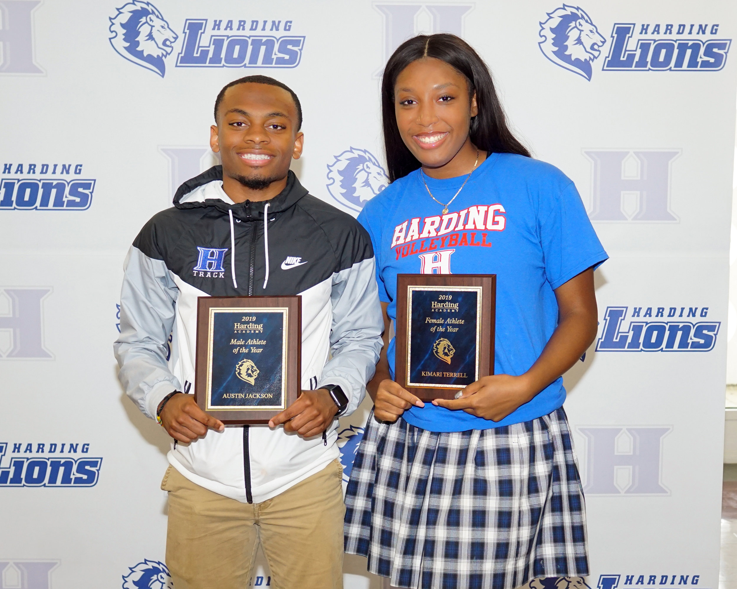 Male Athlete of the Year: Austin Jackson Female Athlete of the Year: Kimari Terrell