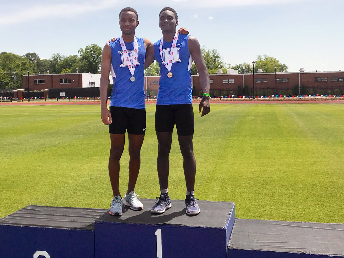 Myles Neely 2nd & Coby Hollins 1st in long jump