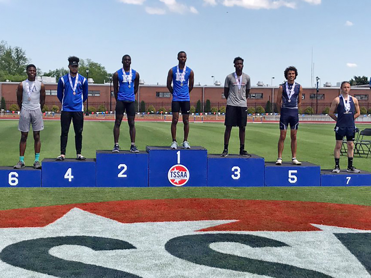 Myles Neely 1st & Coby Hollins 2nd in triple jump
