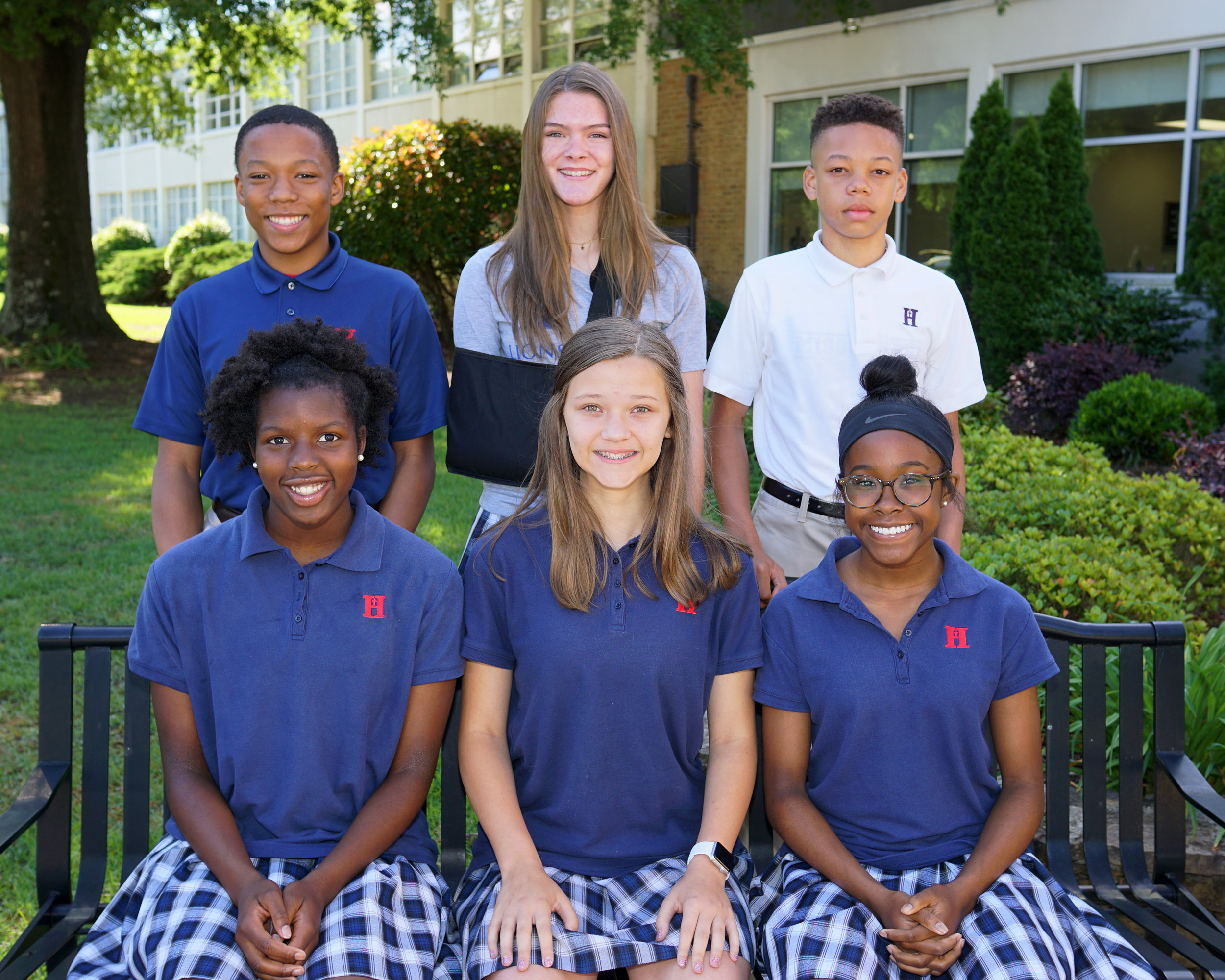 Back row (l to r): Blake Oswell, Madie Liberto, RJ Freeman  Front row (l to r): Makyah Thomas, Chandler Donlin, Shelby Williams