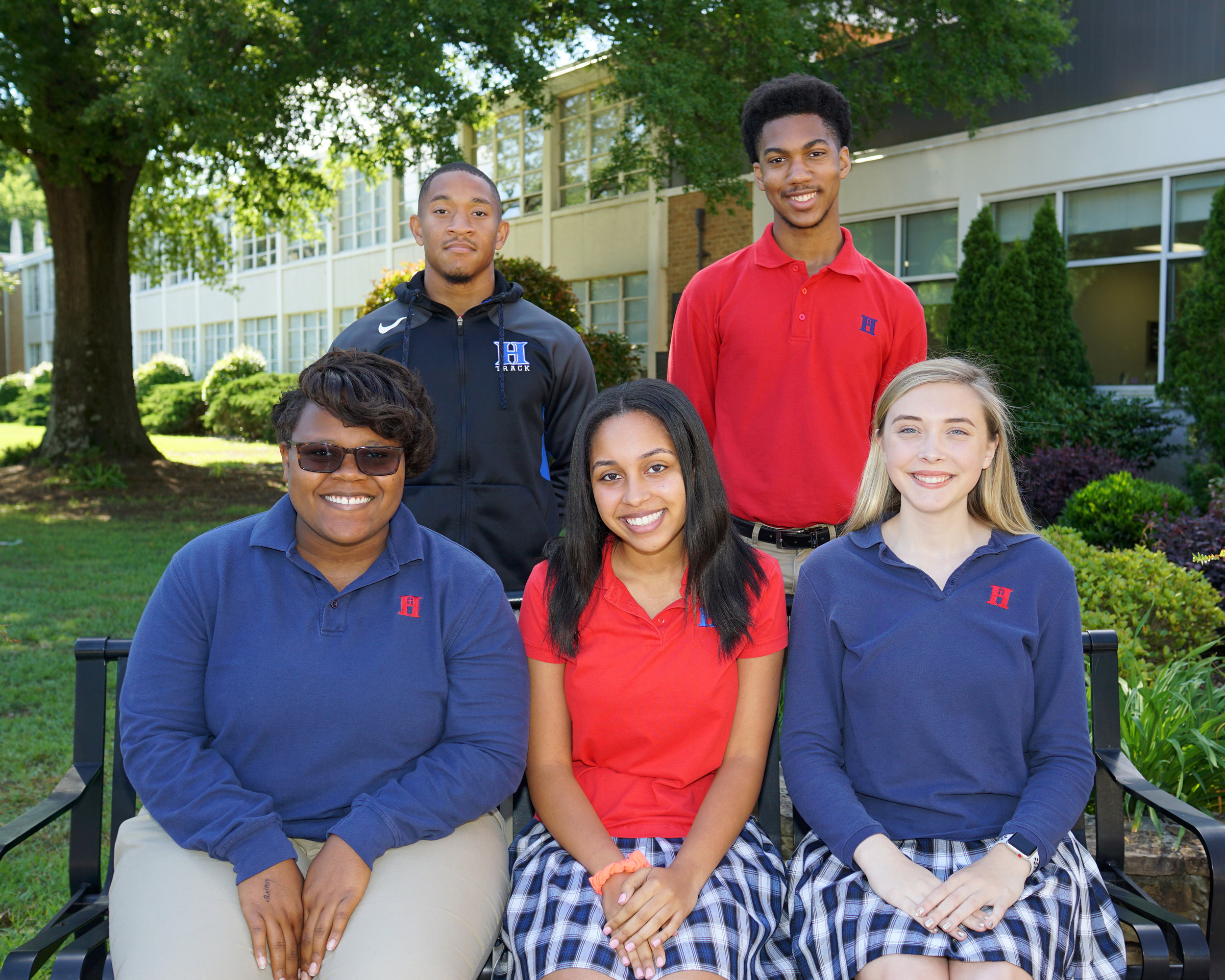 Back row (l to r): President: Jordan Clay; Treasurer: David Long Front row (l to r): Vice President: Jocelyn Bringht; Secretary: Liliana Mohamed; Historian: Brooke Kenworthy