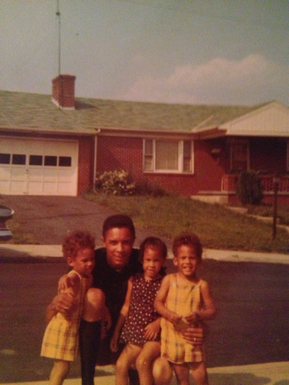 Father and the kids, late 1960s