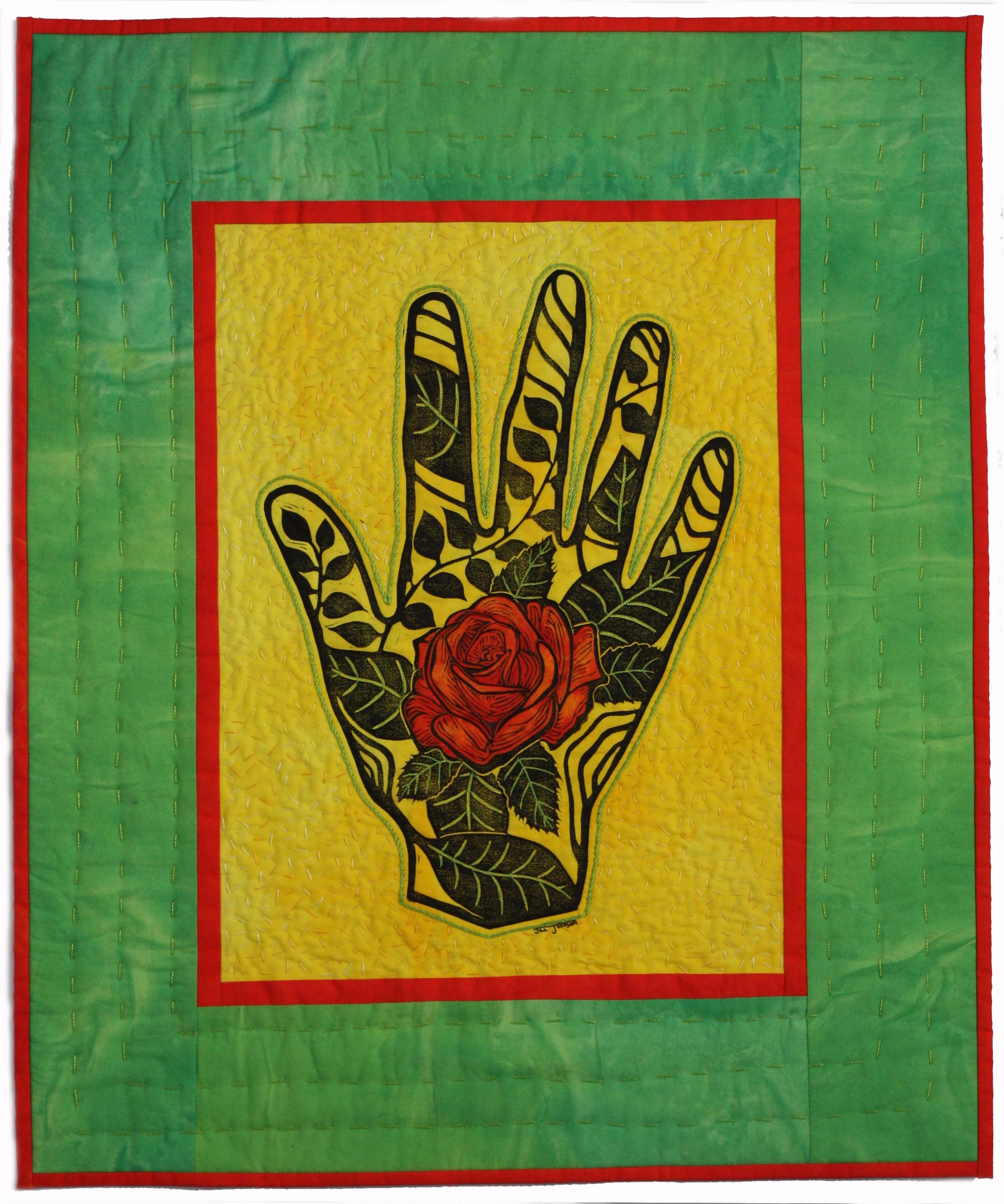 Hand XXV: Red Rose