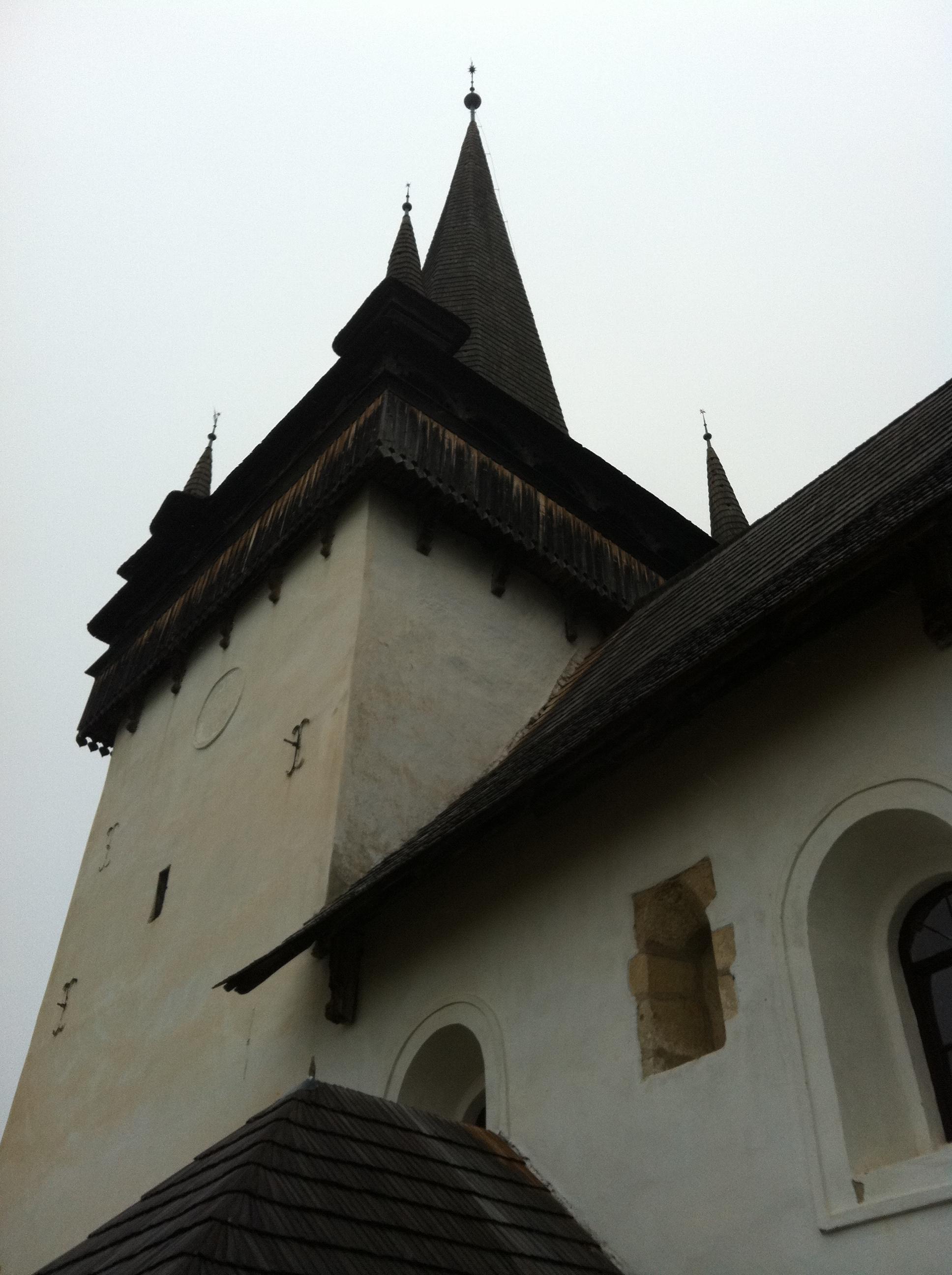 Steeple of the Reformed Church in  Văleni / Magyarvalkó.