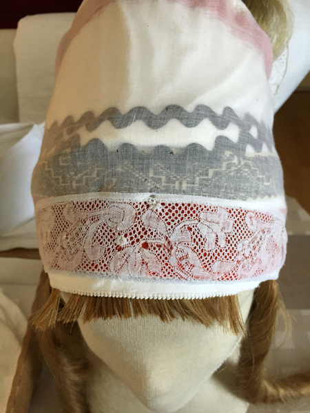 Example of headwear worn beneath the cap from Marken, NL. Collection of Jankees Goud, Yerseke, NL.