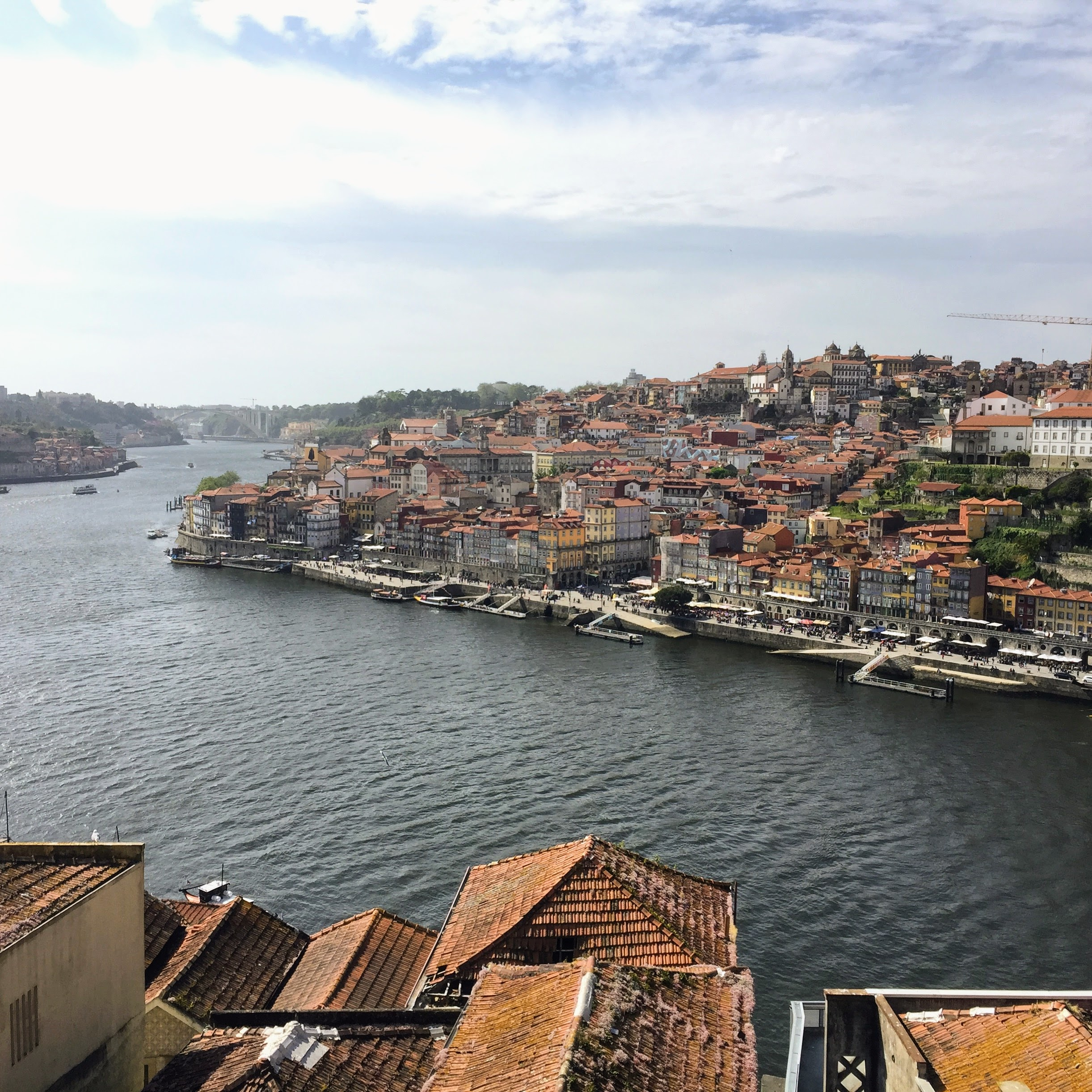 The city of Porto and the Douro River.