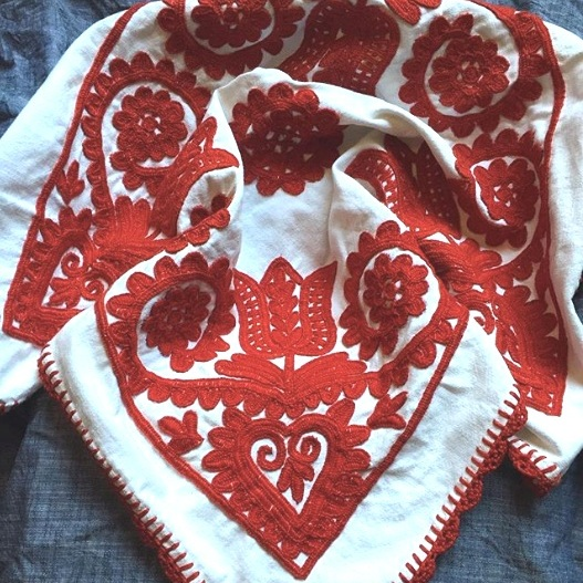 Hungarian Written Embroidery from Transylvania, Romania