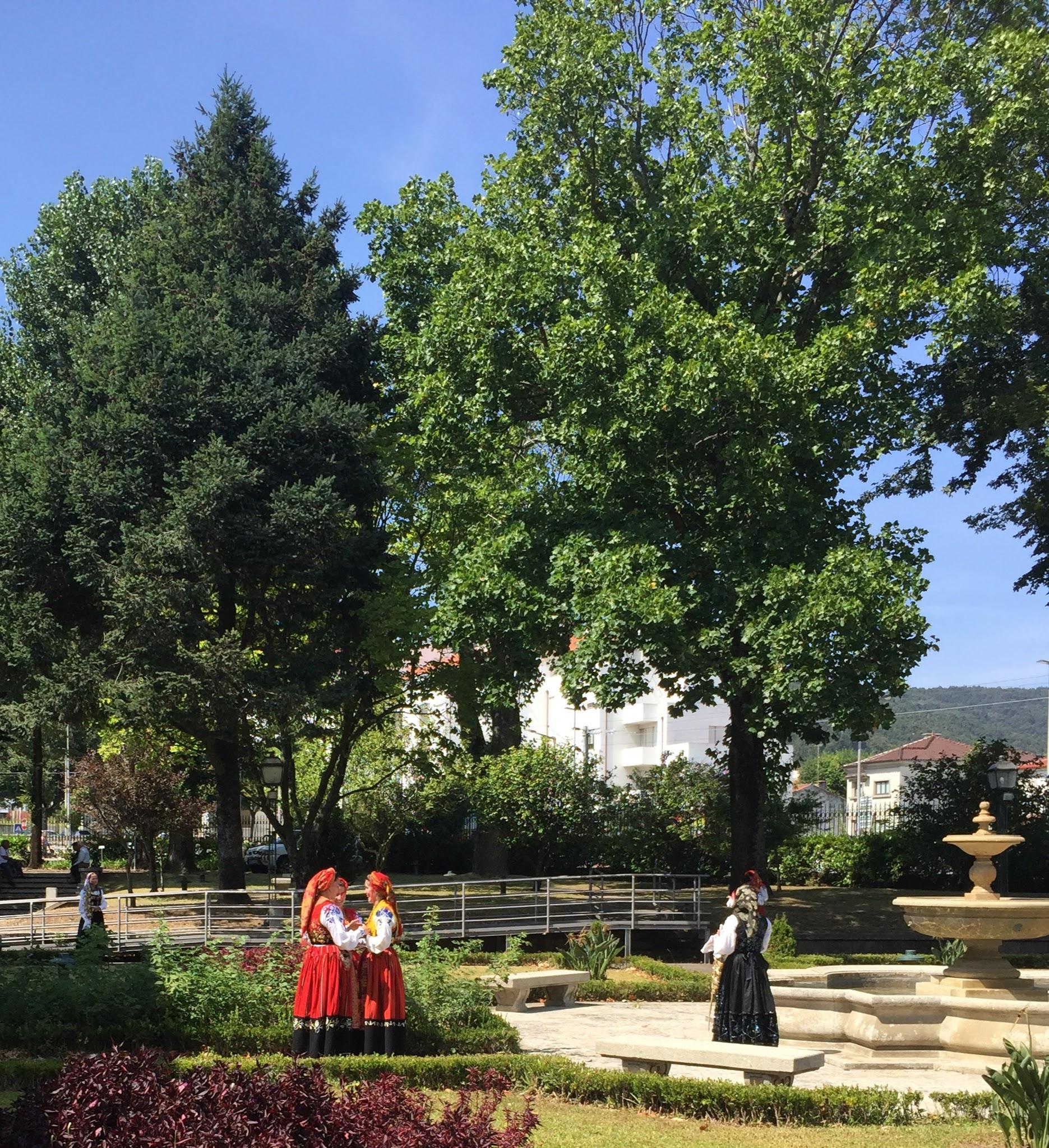 Women dressed for the parade, Viana do Castelo, Portugal