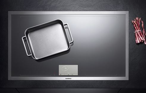 The ENTIRE cooking surface is one large induction cook top. It self senses where you place a pot or pan. This is definitely one of my favorite new cooking appliances.