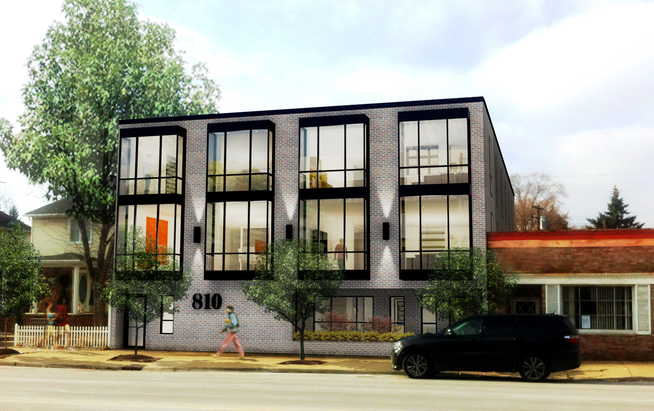 Coming soon, modern living in Royal Oak, Michigan. 5 new residential units.
