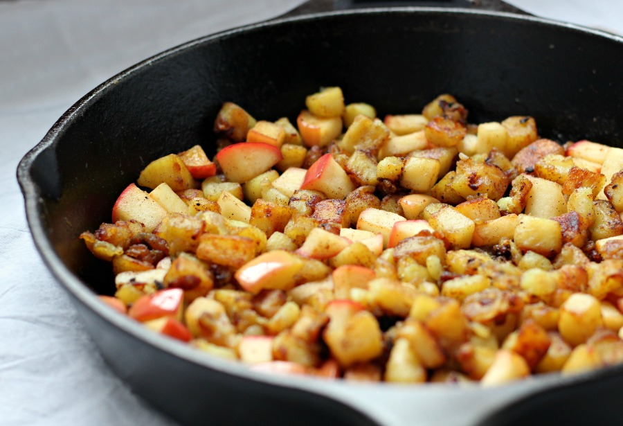 Caramelized Sweet Potato Apple Hash Browns {Paleo & Whole30}