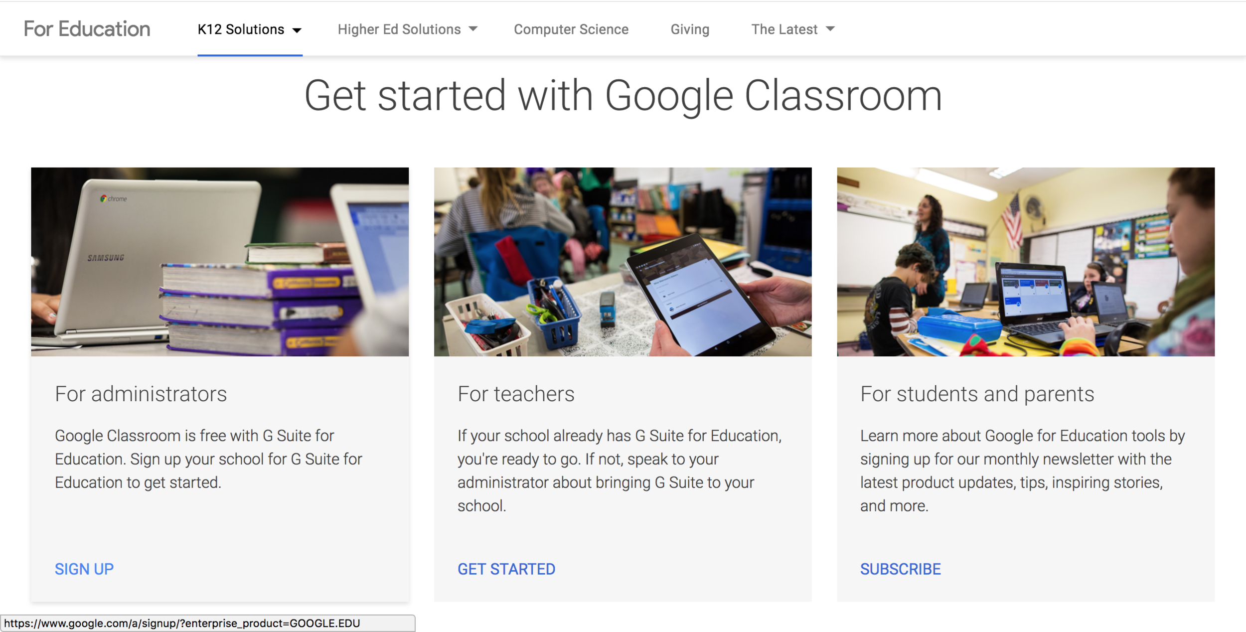 Google Classroom - Now that I have experienced the phenomenally streamlined power of Google Classroom, I cannot imagine a classroom experience without it. The collaborative nature of the G Suite is empowering for students, the ability to track revisions and recover earlier versions of documents is the ultimate safety net, and the interface is brilliant and effortlessly easy to navigate. I am in love with Google Classroom. It is the be all and end all of organizing a classroom.