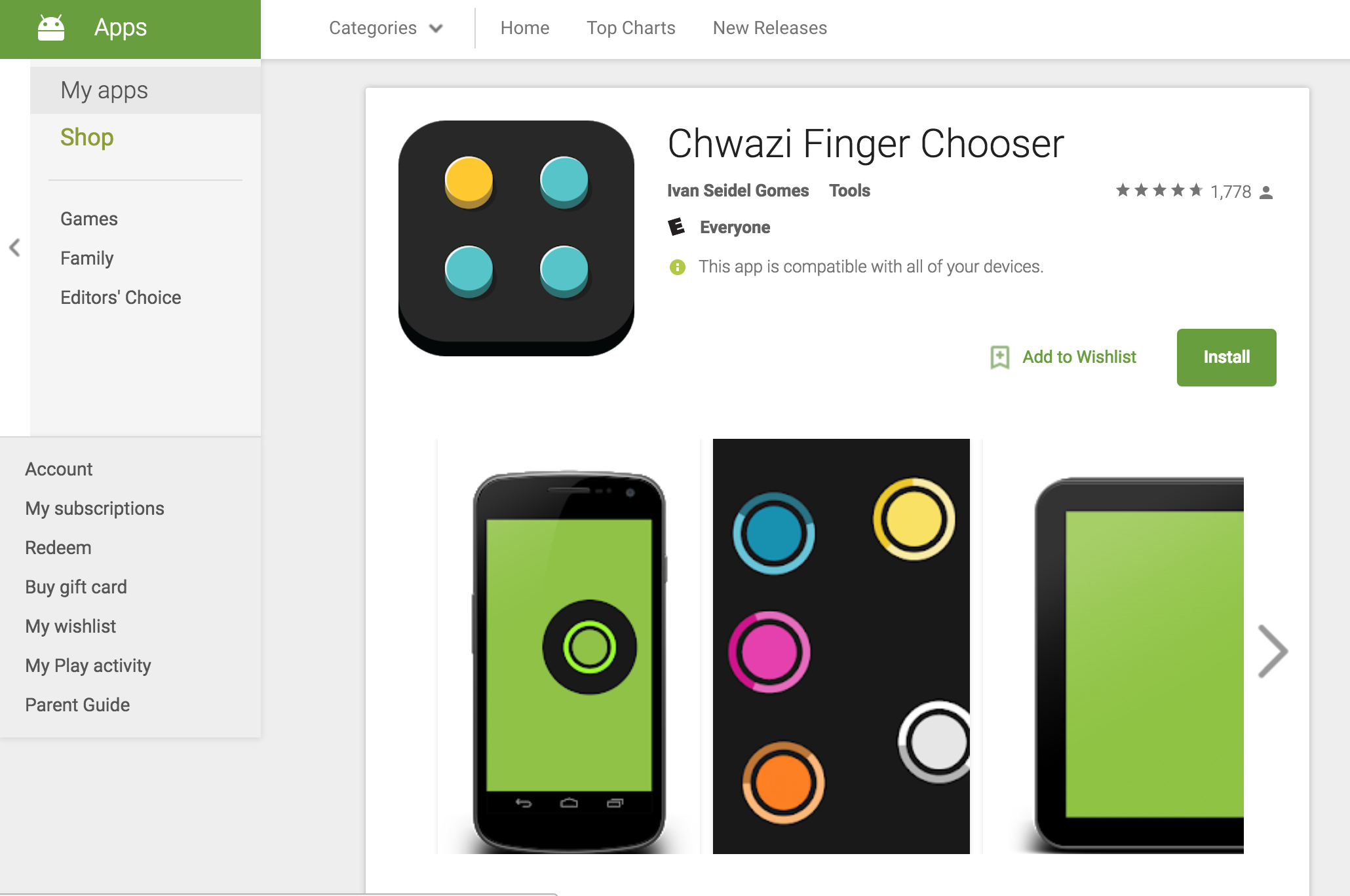 Chwazi Finger Chooser - This is the modern day version of