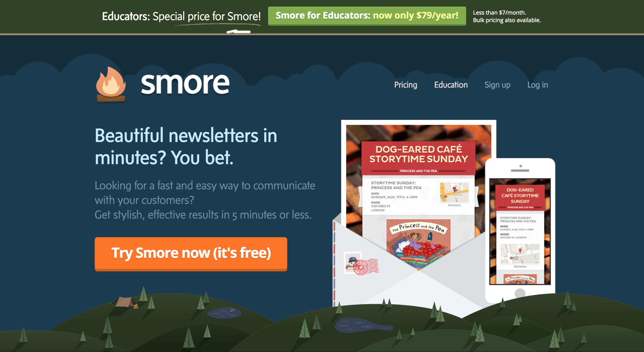 Smore - Most teachers and administrators dream of sending up-to-date newsletters to parents and students, and Smore makes those dreams a reality. It is simple, fast way to turn pictures and short captions into a professional looking newsletter for parents and students that they can read on their phones.