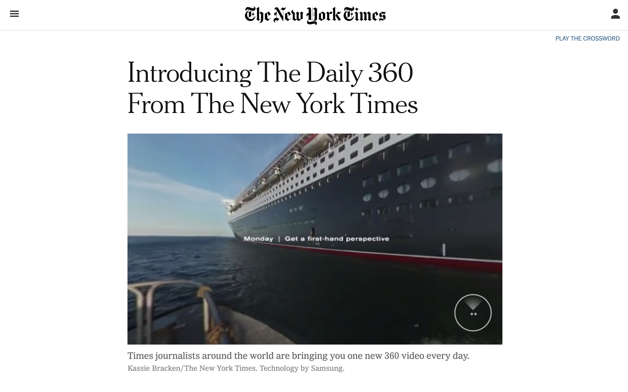 NYT Daily 360 - I am a devotee to the mini-documentaries published by the New York Times, but I find its 360° videos to be revolutionary. They often carries the dialogue of an article, but even if quiet, this immersive experience is a form of 21st century reading that might just inspire a student to form an affinity for newspapers.
