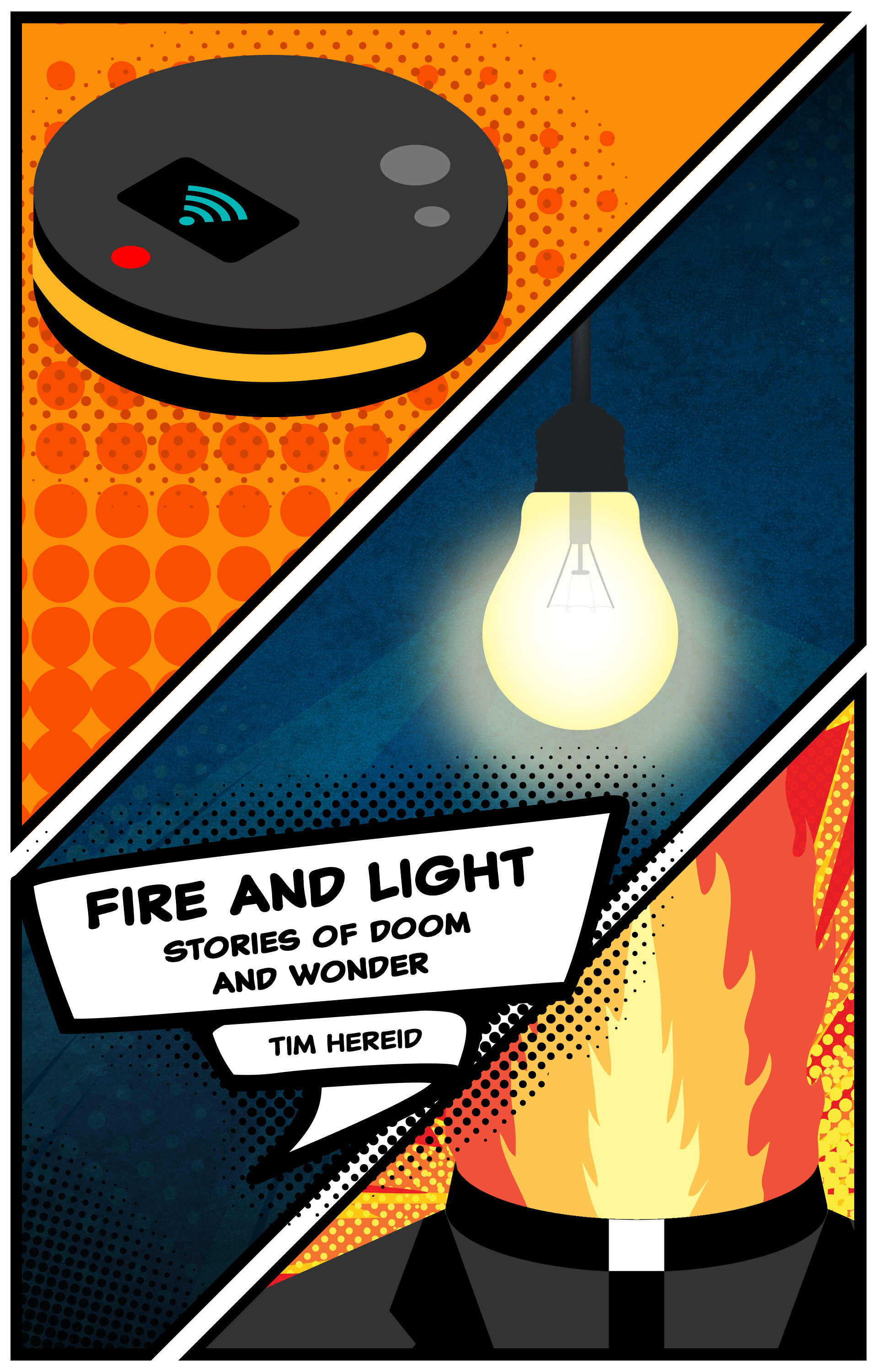 Fire & Light - Stories of Doom and WonderWhat could a half-sentient robot, a telepathic witness to a brutal crime and an anti-fracking priest have in common? A little bit, as it turns out. Enough, at least, to bump shoulders in this short collection of adventure, mind-reading, tech-futurism, murder and...more murder…SORRY I DIDNT GET THAT: When an enthusiastic homeowner purchases the Consuelo CleanTalk Maidbot, Conseuelo gets right to work creating a cleaner and more connected home, but a life-threatening disaster puts Consuelo's cutting edge features to the dubious task of saving its owner's life.In Your Head: Mr. Gerke doesn't want to speak to the police. The feeling is mutual. When Mr. Gerke presents wild but compelling evidence about a major crime, Detectives Kelly Hargrave and Gary Schmacek have little choice but to hear him out, no matter where Gerke's twisting tale leads.You Have the People You Have: Crofton had a small town hero, a young, hardworking priest who came to the local Catholic parish to do more than just deliver homilies and hand out communion. Then something happened in Crofton, something terrible, something the residents don't like to talk about.